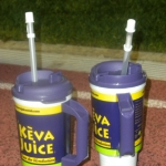 Keva Juice enjoys every football game!