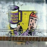 Painting Keva Juice billboard